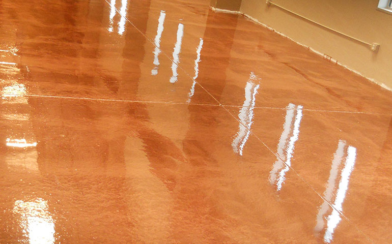 Glitter Bronze Epoxy Flooring