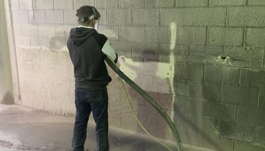 Sand Blasting Paint Removal